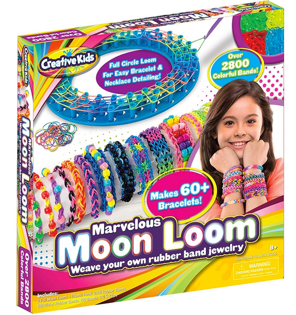 Moon Loom DIY Rubber Band Bracelet Making Craft Kit