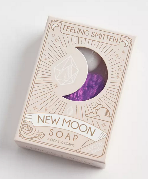 New Moon Soap with White Agate Inside