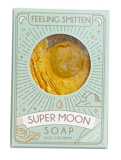 Super Moon Soap with Tiger Eye Inside