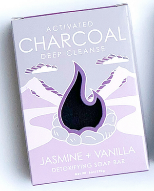 Natural Elements Soap Charcoal- Lavender & Vanilla- Detoxifying