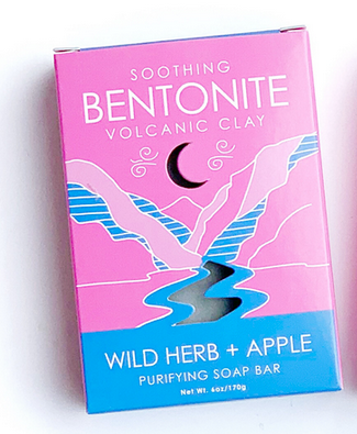 Natural Elements Soap Bentonite- Wild Herb & Apple- Purifying