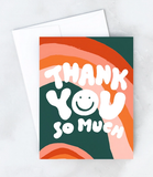 Wavy Thank You Card Boxed Set of 8