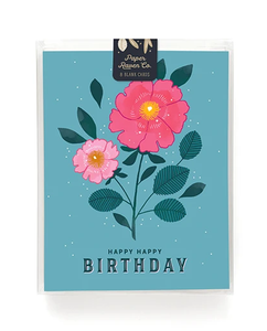 Floral Birthday Card- Box Set of 8