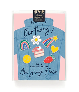 Birthday Flair Card- Box Set of 8