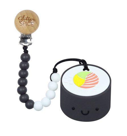 Sushi Silicon Teether with Clip