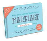 Wishes, Advice, and Happy Thoughts for Your Marriage Wedding Shower Fill in the Love Gift Book