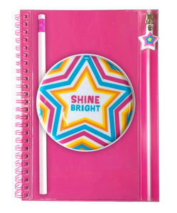 Shine Bright Pencil Pouch Journal