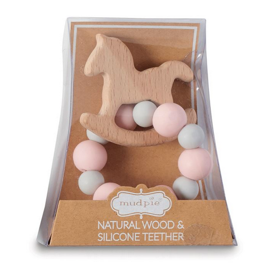 Unicorn Natural Wood & Silicone Teether