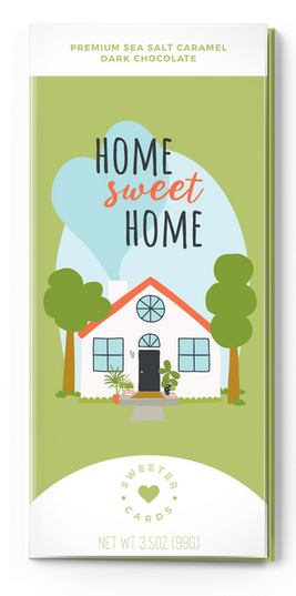 Home Sweet Home - Chocolate Bar and Card in One