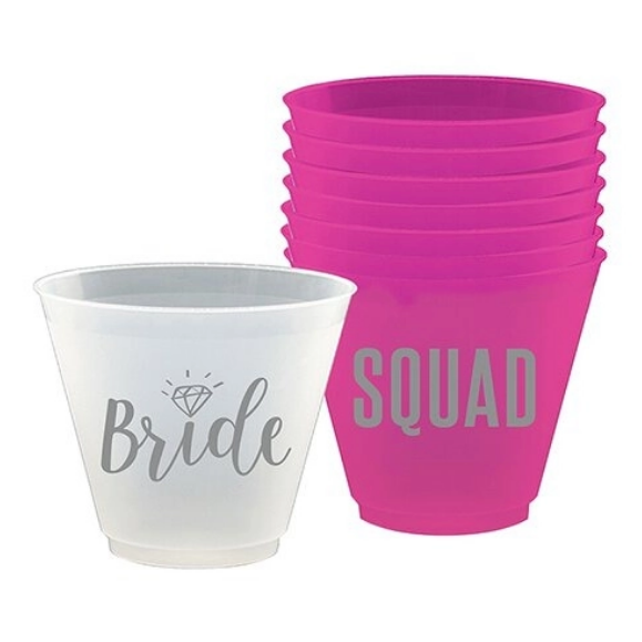 Bride Squad Small Drink Cups Set of 8- 9 oz