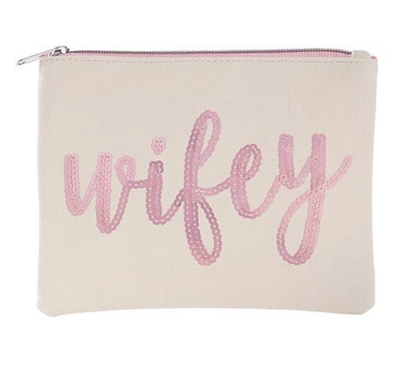 Wifey Canvas Cosmetic Bag