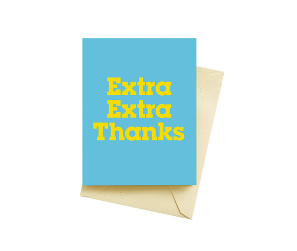 Extra Thank You Card