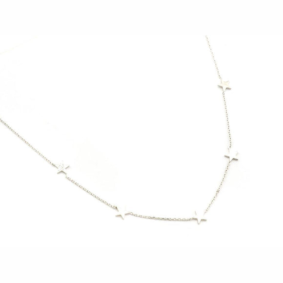 Five Star Necklace Silver