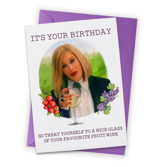 Moira Wine Schitt's Creek Birthday Card