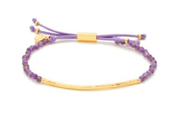 Power Gemstone Amethyst Bracelet for Tranquility