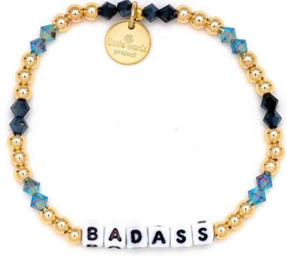 Badass- Gold Filled And Crystal