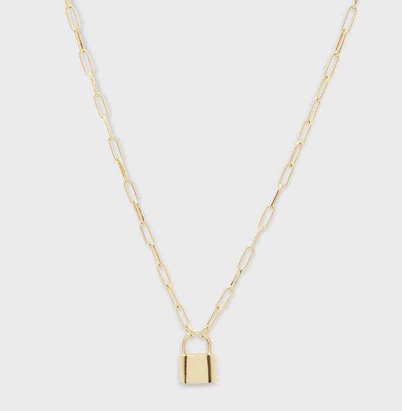 Kara Padlock Charm Necklace