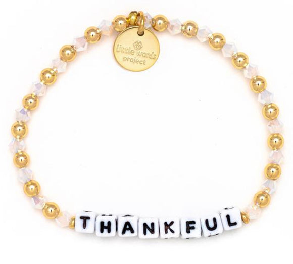 Thankful- Gold Filled And Crystal