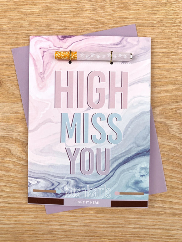 High Miss You One Hitter Card