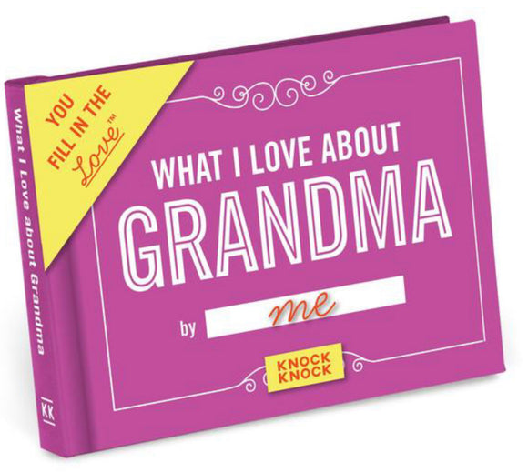 What I Love About Grandma Fill-In-The-Blank Gift Journal