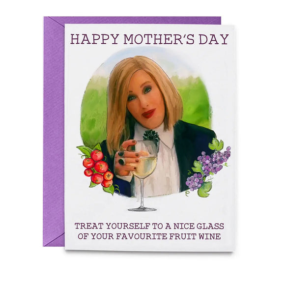 Mother's Day Moira Wine Schitt Card