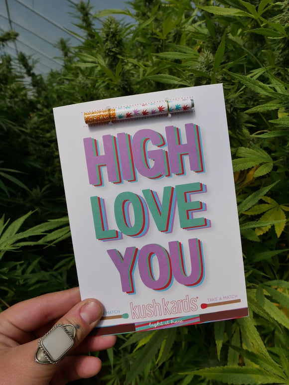 High Love You One Hitter Card