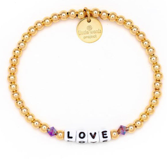 Love- Gold Filled And Crystal