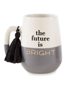 The Future Is Bright Graduation Mug