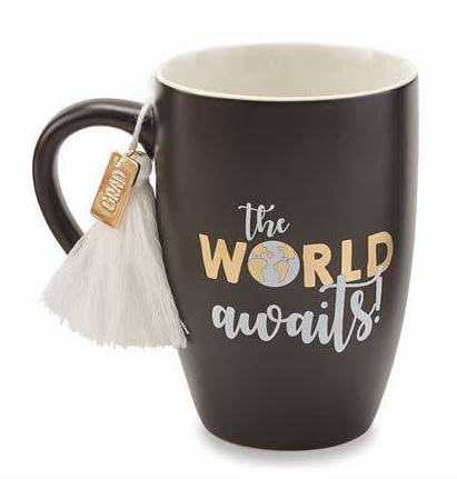 The World Awaits Graduation Mug