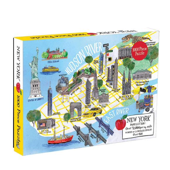 New York City Map 1000 Piece Family Puzzle