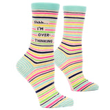 Shh I'm Over Thinking Women's Crew Socks