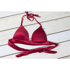 Red Velvet Push Up Bikini Set
