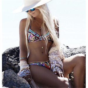Retro Bohemia Printed Bikini Swimwear Multi Color