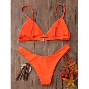 Fold Triangle Brazilian Push Up Swimwear