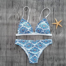 Classic Low Waist Push up Bikini Set NEW 2018 Geometric Print