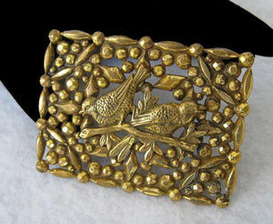 VICTORIAN PIN FROM ENGLAND W/ 3-D BIRDS
