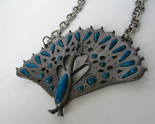 RETRO PEWTER PEACOCK NECKLACE BY GOLD CROWN, INC.