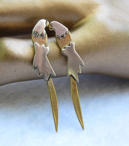 STYLISTIC 'N STYLISH STERLING MACAW EARRINGS