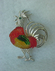 EXCITING 'N COLORFUL ROOSTER PIN