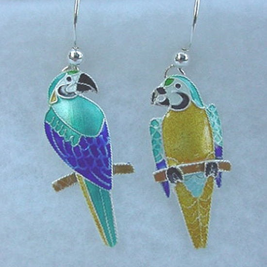 FLIRTY STERLING SILVER PARROT EARRINGS