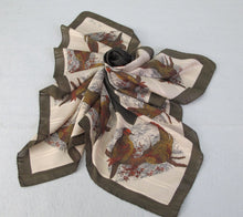 VINTAGE ITALIAN VIA VENETO SILK SCARF W/ LAPWINGS AND DOVES