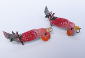VINTAGE COCKATOO BARRETTES FROM FRANCE