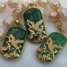 ORIENTAL ASIAN HERON EARRING PENDANT SET