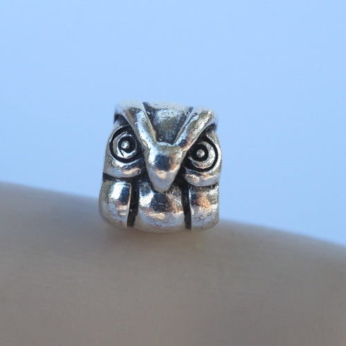 PANDORA COMPATIBLE STERLING SILVER OWL BEAD