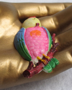 CARNIVAL PRIZE CELLULOID COCKATOO PIN