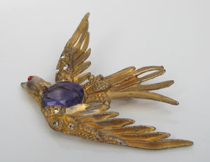 POT METAL BIRD OF PARADISE PHOENIX BROOCH