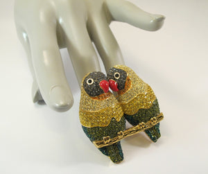 JOAN RIVERS LOVEBIRDS BROOCH