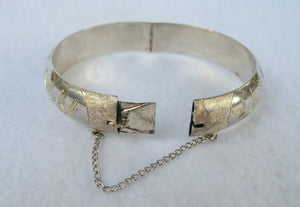 VINTAGE STERLING BANGLE BRACELET FROM THAILAND WITH BIRDS