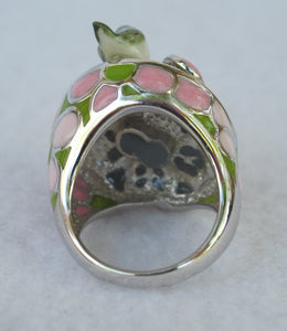 MOD STERLING SILVER CZ FLOWER BIRD RING SIZE 7.75