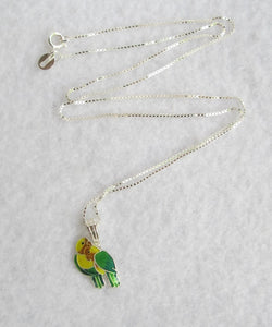STERLING SILVER FISHER'S LOVEBIRD NECKLACE